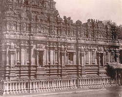 View from the south-west of the façade of the Subramanya Shrine of the Brihadishvara Temple, Thanjavur 10032443